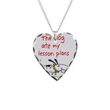 dog-ate-plans Necklace Heart Charm