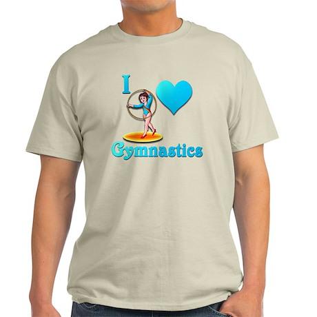i love gymnastics #3 Light T-Shirt