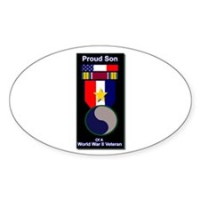 Proud Son of WWII 29th Div Soldier Oval Decal