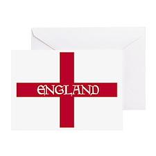 2-PC English Flag - England Goudy Me Greeting Card