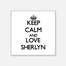 Keep Calm and Love Sherlyn Sticker