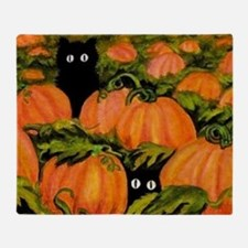 pumpkinspatchcats_miniposter_12x18_f Throw Blanket