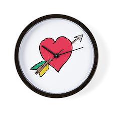 Pierced Heart Wall Clock