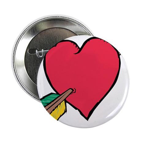 """Pierced Heart 2.25"""" Button (10 pack)"""