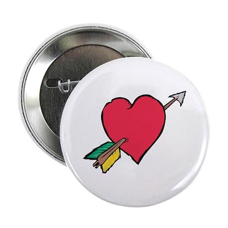 """Pierced Heart 2.25"""" Button (100 pack)"""