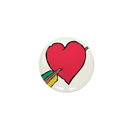 Pierced Heart Mini Button (100 pack)