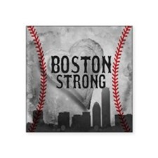 """Boston Strong by Vetro Jewe Square Sticker 3"""" x 3"""""""