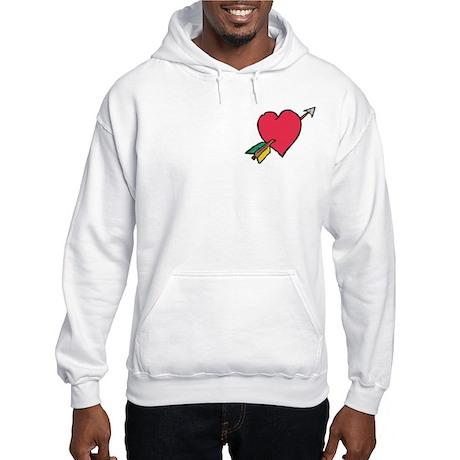 Pierced Heart Hooded Sweatshirt
