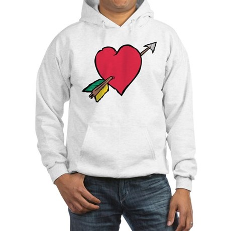 Pierced Heart Hooded Sweatshirt