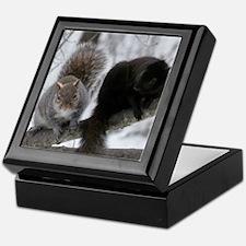 Squirrels chatting Keepsake Box