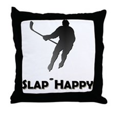 SlapHappyBlackHD Throw Pillow