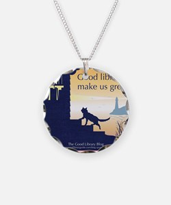 Good Library Tote front Necklace