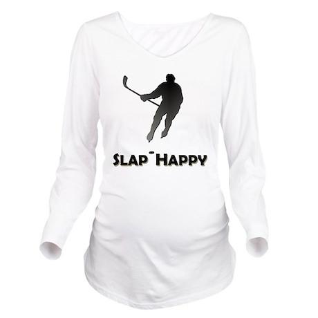 SlapHappyBlackHD Long Sleeve Maternity T-Shirt