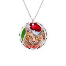 MeowyChristmasCircleWords Necklace