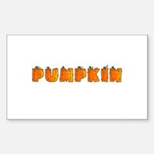 pumpkin Rectangle Decal