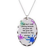 stop-playing-outside Necklace