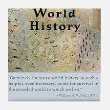 World History T-Shirt Front Tile Coaster