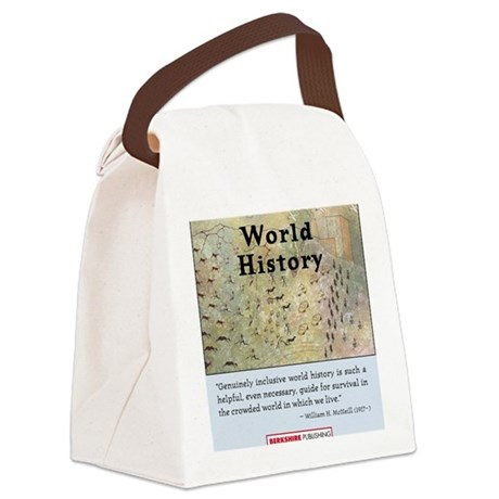World History T-Shirt Front Canvas Lunch Bag