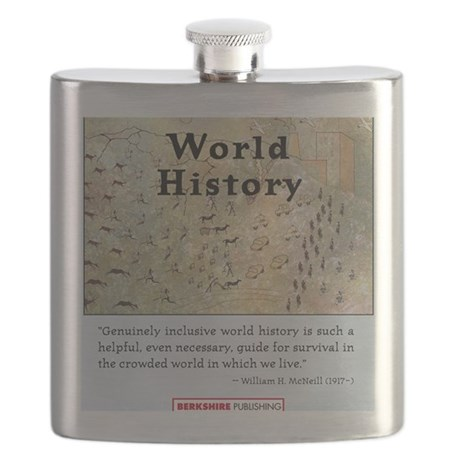 World History T-Shirt Front Flask