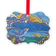 Dolphins 10x14 Ornament