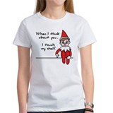 Adult christmas elf on the shelf Women's T-Shirt