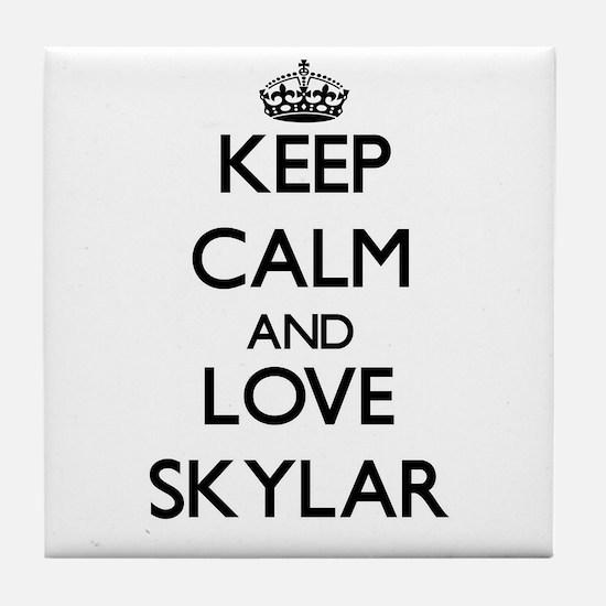 Keep Calm and Love Skylar Tile Coaster