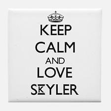 Keep Calm and Love Skyler Tile Coaster