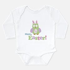 Happy Easter Owl Long Sleeve Infant Bodysuit