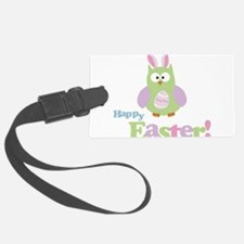 Happy Easter Owl Luggage Tag
