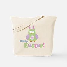 Happy Easter Owl Tote Bag