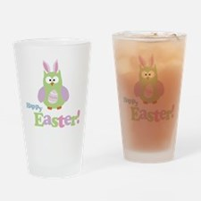 Happy Easter Owl Drinking Glass
