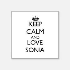 Keep Calm and Love Sonia Sticker