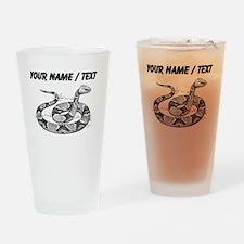 Custom Copperhead Snake Drinking Glass