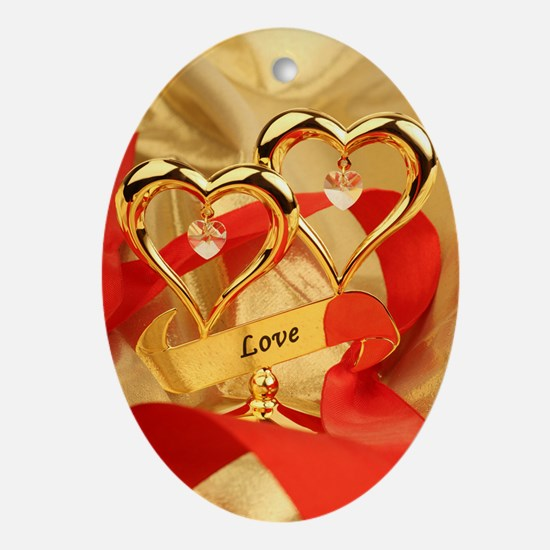 Love Oval Ornament