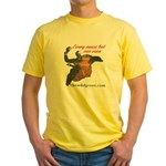 Wild Geese Today Logo/Irish Brig - Yellow T-Shirt