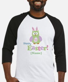 Personalized Happy Easter Owl Baseball Jersey