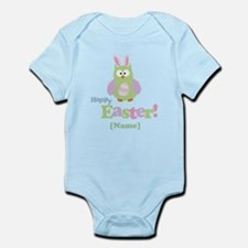 Personalized Happy Easter Owl Infant Bodysuit