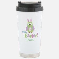 Personalized Happy Easter Owl Stainless Steel Trav