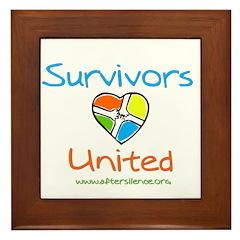 Survivors United Framed Tile