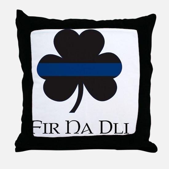 BLUELINE_pocket_gaelic Throw Pillow