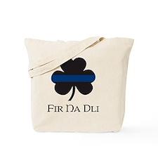 BLUELINE_pocket_gaelic Tote Bag