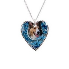 Blue_Snowflake_Sheltie Necklace