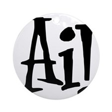 Ai Round Ornament