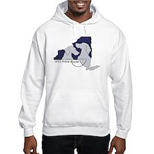 NYS Weim Rescue Hoodie -Blue logo Logo