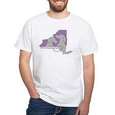 NYS Weim Rescue White T -Purple/Gray logo