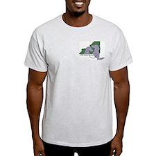 NYS Weim Rescue Ash T-Shirt -Green/Peri Logo