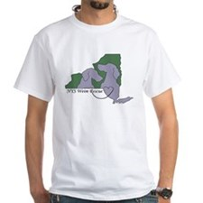 NYS Weim Rescue White T -Grn/Purp logo