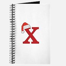 Letter X Christmas Monogram Journal