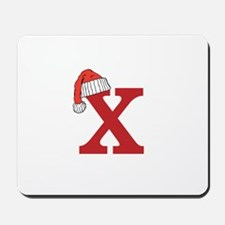 Letter X Christmas Monogram Mousepad