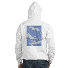 Leaping Weim 2 Sided Hoodie